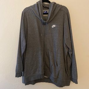 Nike zip up sweater